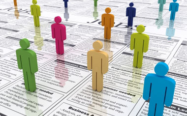 image of people figures on top a job listing